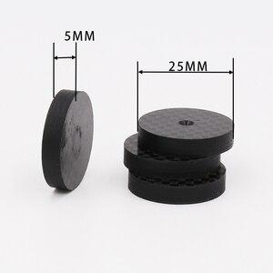 Image 1 - Isf0001 preto fibra de carbono alto falante isolamento 25x5mm spike base almofada sapato pés alta fidelidade 4 pçs