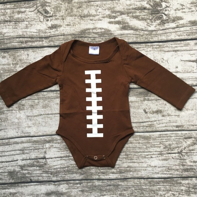 41ee816c0c1 free shipping baby boy football season clothing infant toddler boys romper  children football romper toddler boys