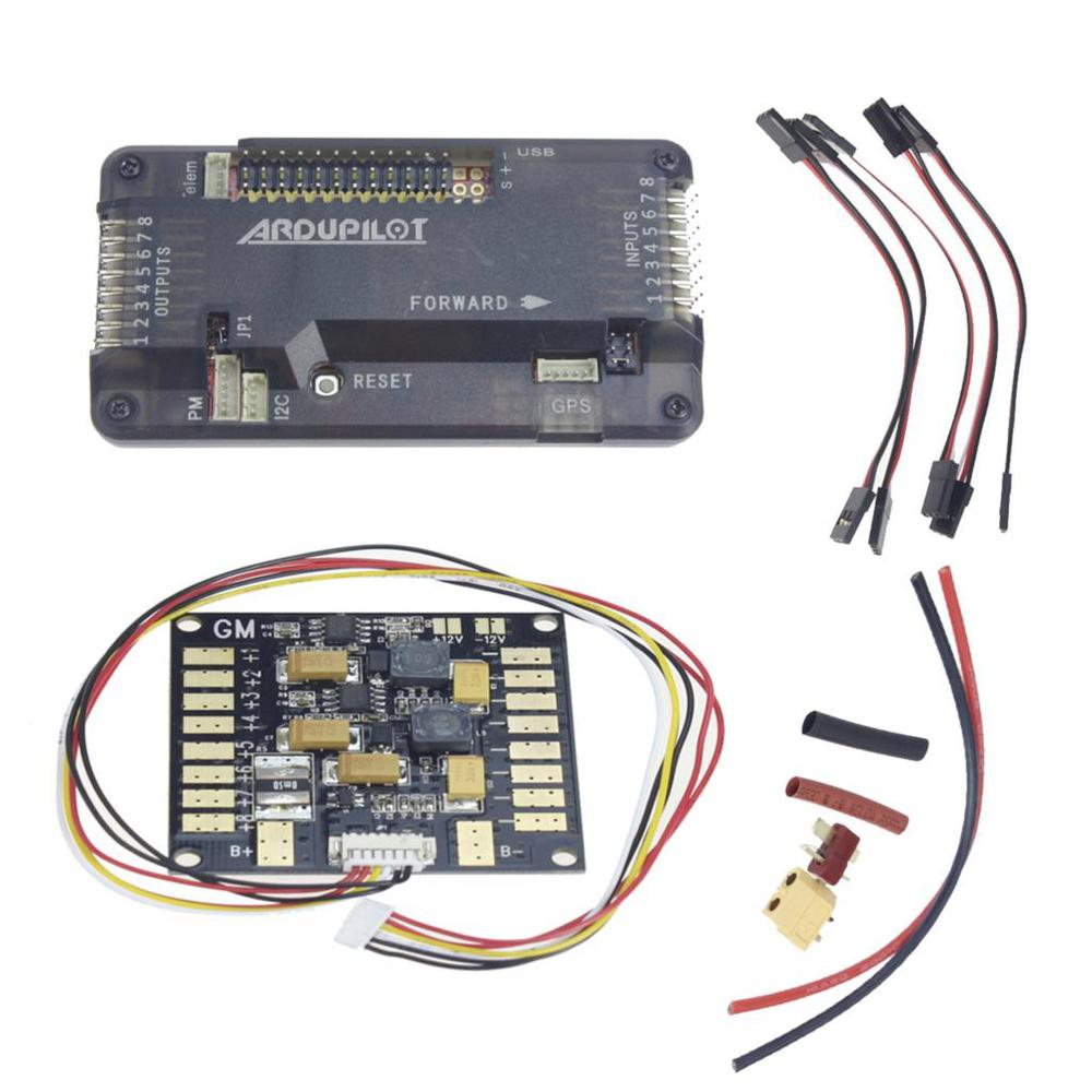 все цены на  F14586-B APM 2.8 APM2.8 RC Multicopter Flight Controller Board Compass & ESC Power Distribution Module BEC for FPV RC Drone  онлайн