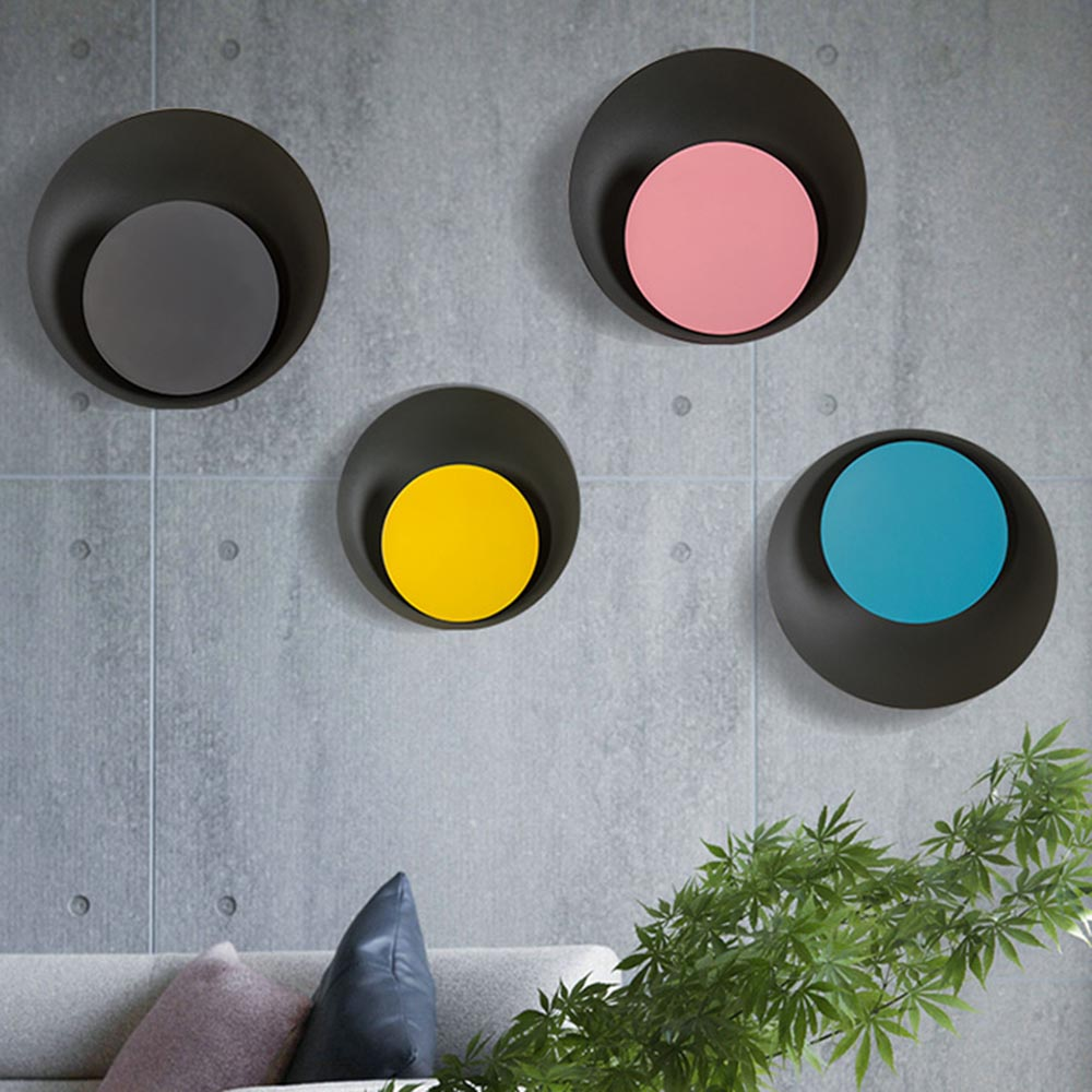 Modern Nordic Colorful Macaron Moon LED Wall Lamp Bedroom Bedside Light Balcony Courtyard Aisle Sconce Lights Wall Decor Art 2017 new sale post modern simple nordic bedroom study bedside aisle balcony creative personality led wall lamp home decor lights