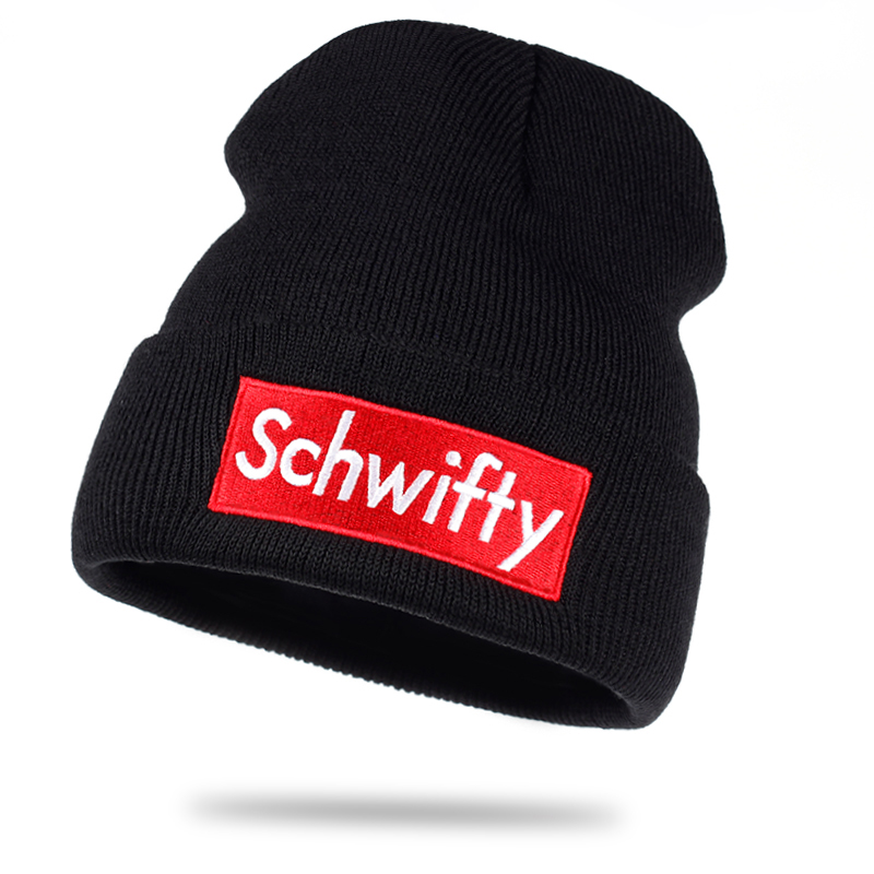 Schwifty Winter Knitted Hats Rick And Morty Classical Language Get Schwifty Very Cool Beanie Skiing Knit Hats Warm Skullies