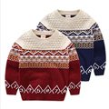 Minimalism Autumn Winter Retro Sweater For Girls Boys Pullover Thick Children's Sweater Kids Clothes