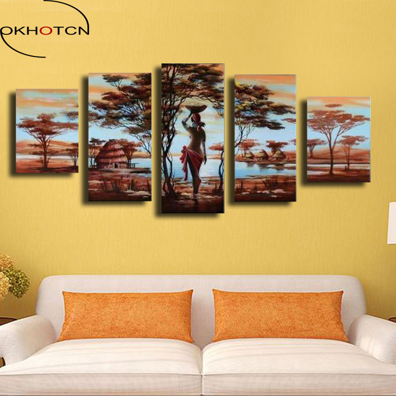 Aliexpress.com : Buy OKHOTCN Oil Painting On Canvas Framed Wall Art ...