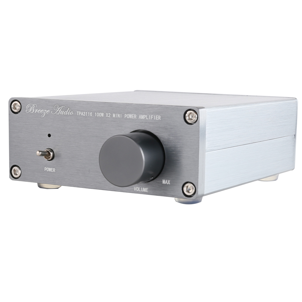 Breeze Audio BA100 MINI HiFi Class D Audio Digital Power Amplifier tpa3116d2 2 TPA3116 Advanced 2