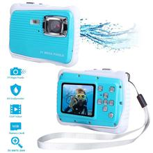 Waterproof Kids Camera Portable 21MP HD Underwater Video Cameras 2.0 inch LCD Screen 8X Zoom Action