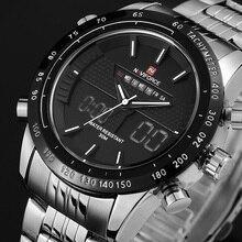 NAVIFORCE Reloj de Acero Llena de marcas de Lujo Hombres LED Deportes Del Ejército Militar Hombres de Los Relojes de Cuarzo Analógico Digital Reloj del relogio masculino