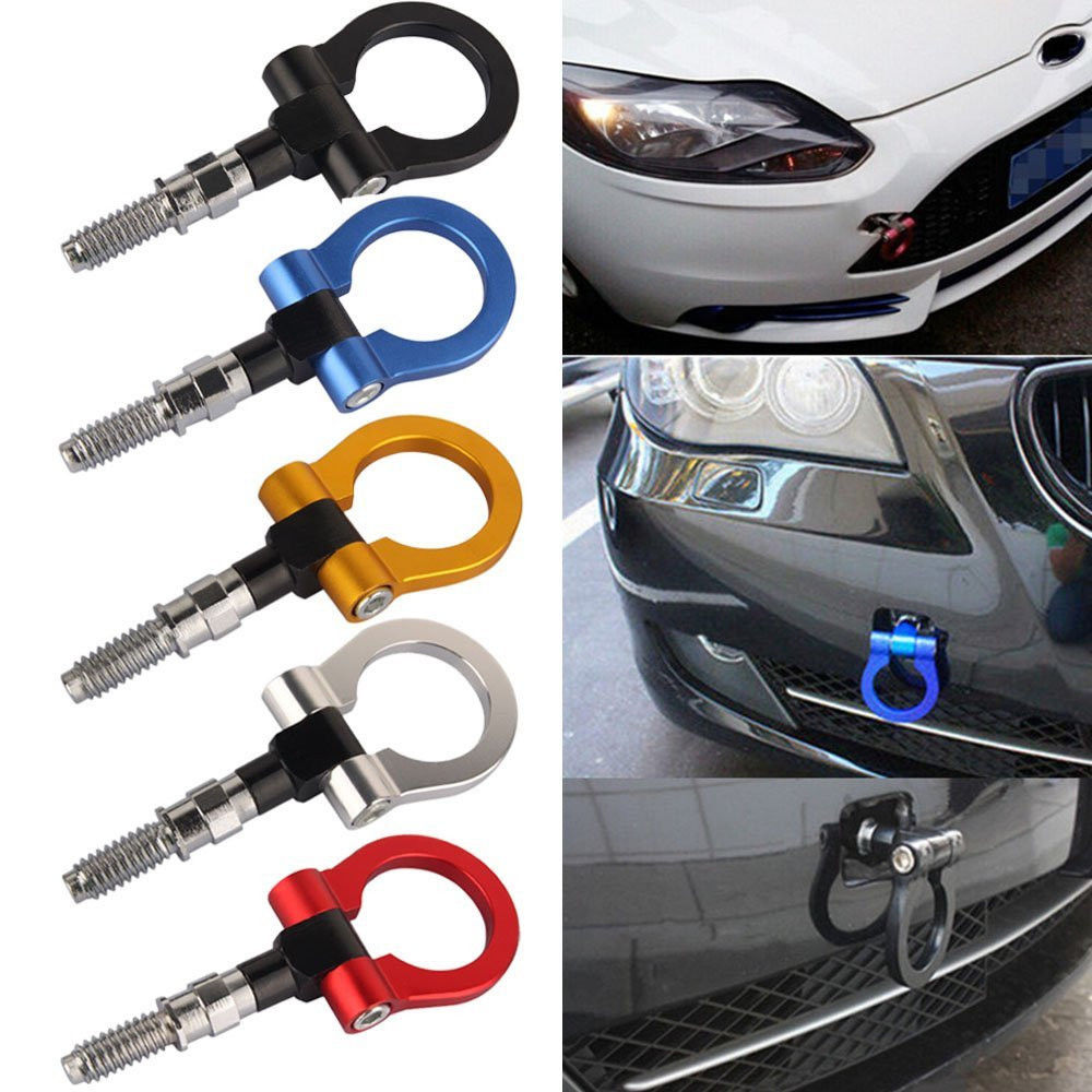 Triclicks CNC Racing Tow Towing Hook Kit Car Auto Trailer Ring Portable Emergency Trailer Front Rear