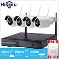 1080P Wireless CCTV System 2TB HDD 2MP 4CH Powerful NVR IP IR-CUT Bullet CCTV Camera IP Security System Surveillance Kits hiseeu