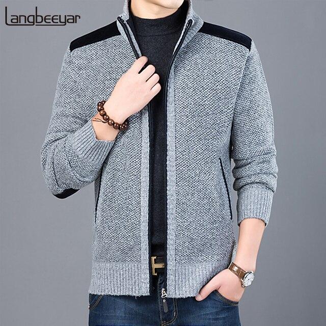 2019 starke Neue Mode Marke Pullover Für Herren Strickjacke Slim Fit Jumper Strickwaren Warme Herbst Casual Koreanische Stil Kleidung Männlich
