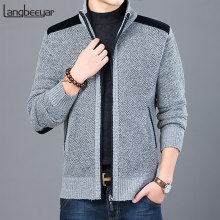 2020 Thick New Fashion Brand Sweater For Mens Cardigan Slim Fit Jumpers Knitwear Warm Autumn Casual Korean Style Clothing Male(China)