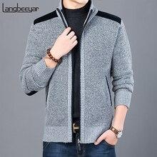 2020 dicke Neue Mode Marke Pullover Für Herren Strickjacke Slim Fit Jumper Strickwaren Warme Herbst Casual Koreanische Stil Kleidung Männlich