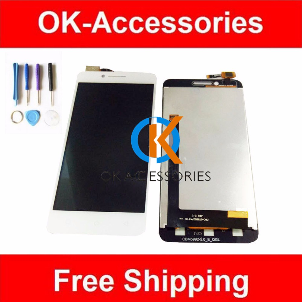 100% High Quality Black White Color For Lenovo A2020 LCD Display+Touch Screen Digitizer Assembly With Free Tools 1PC/Lot 1 pcs for iphone 4s lcd display touch screen digitizer glass frame white black color free shipping free tools