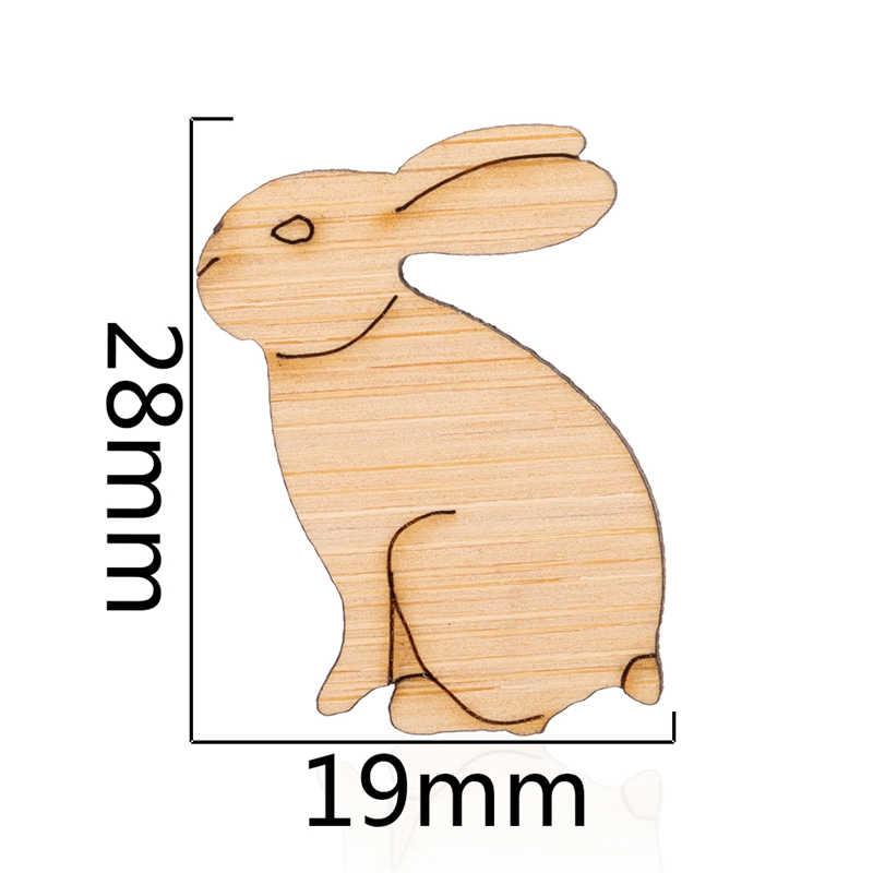 Yiustar 2019 di Modo di Legno Coniglio Bello Spilla per Le Donne Animale Gioielli Borsa Camicia Colletto della Giacca Risvolto Spille Distintivo Regalo
