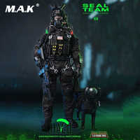 Full set with police dog mini times toys M013 1/6 Navy Special Forces Seal Team B Figure Full Set Collection Doll Toys Gift