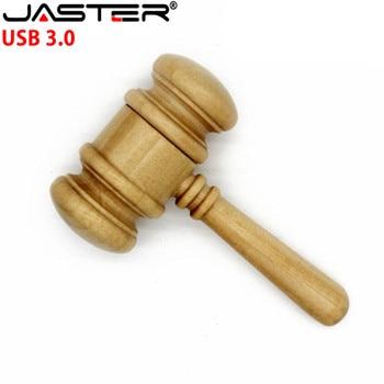 JASTER USB 3.0 Wooden usb flash drive gavel Hammer model 4gb 8gb 16gb 32gb memory usb stick pen drive maple wood pendrive