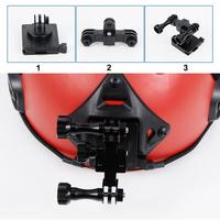 Helmet Front Mount 360 Degree Rotating Head Camera Universal Bracket Kit for GoPro HERO3/3+/4/5 Sport Camera Accessory 18796TW