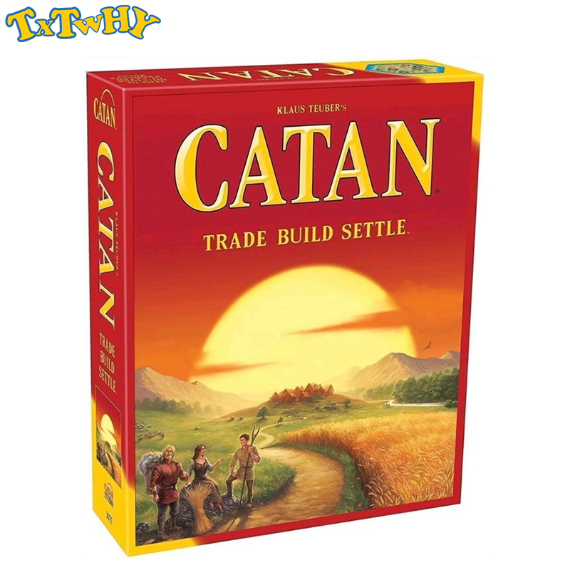 Toys For Children Catan Board Game Family Fun Playing Card Game Educational Theme English Cards Indoor Party Game Collectibles
