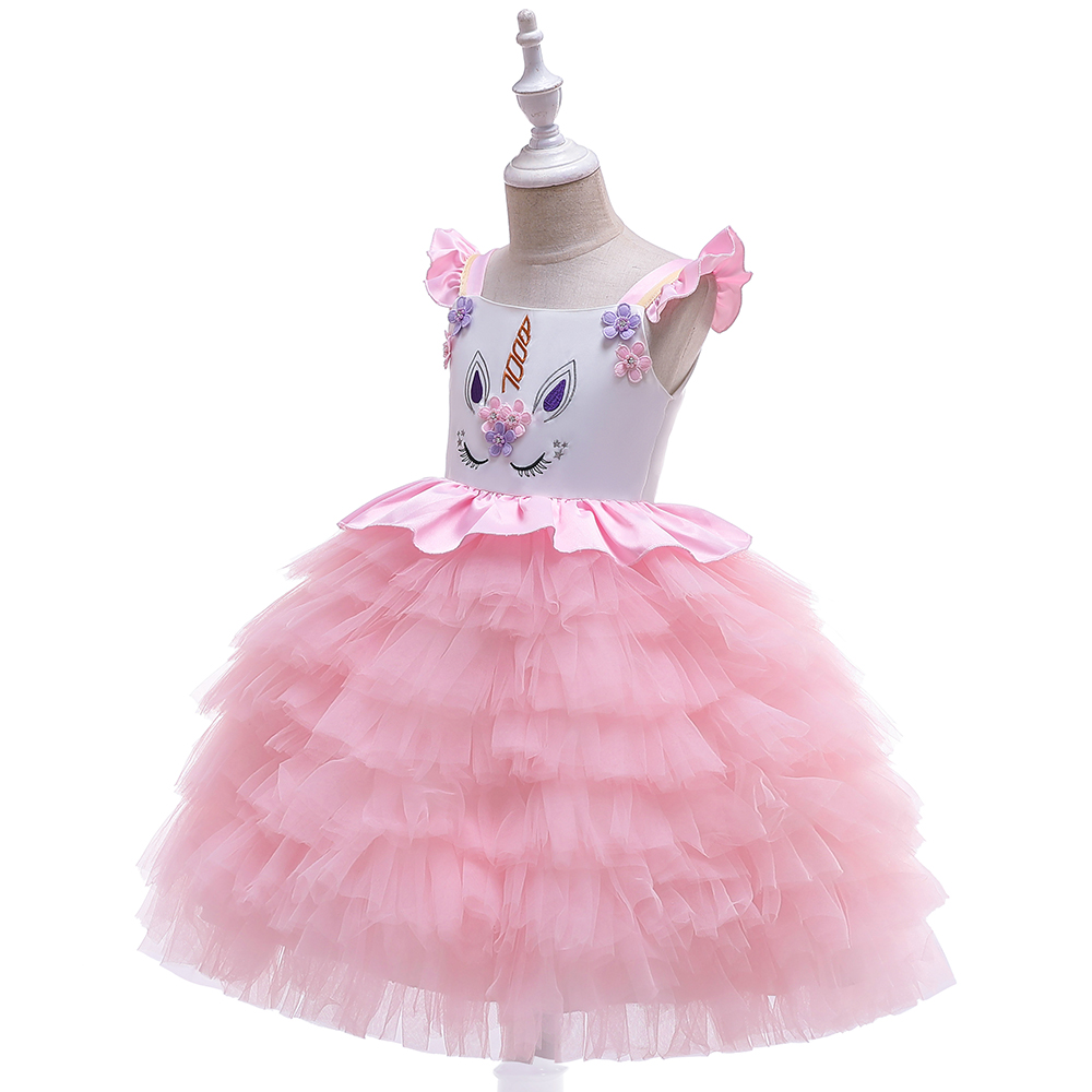 HTB1uGZCaBWD3KVjSZFsq6AqkpXaO New Unicorn Dress for Girls Embroidery Ball Gown Baby Girl Princess Birthday Dresses for Party Costumes Children Clothing