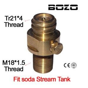 Image 1 - M18x1.5 糸ソーダストリームタンクメーカーバルブアダプタリフィル CO2