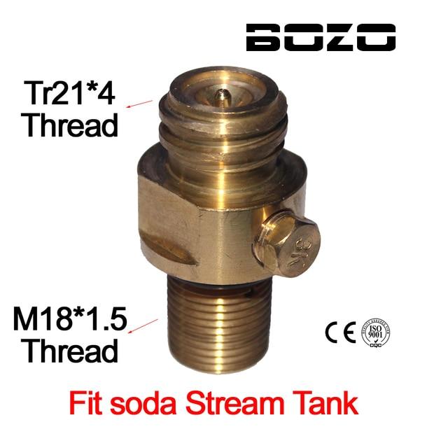 M18x1.5 糸ソーダストリームタンクメーカーバルブアダプタリフィル CO2