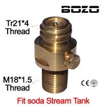M18x1.5 rosca soda stream tanque fabricante válvula adaptador recarga co2