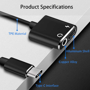 USB Type C To 3.5mm Earphone Jack Adapter For Leeco Le Max 2/Pro 3 S3 Aux Audio Cable Headphone Charger Charging USB-C Converter