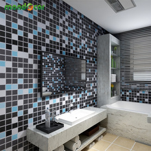 3M PVC Waterproof Mosaic Tiles Wall Sticker Vinyl Removable Self Adhesive Wallpaper Roll Bathroom Kitchen Backsplash Decor