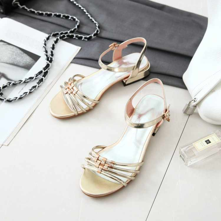 Tamanho grande 9 10 11 12 sandálias das mulheres sapatos de salto alto senhoras mulher verão Água broca arco sandálias com espessura saltos