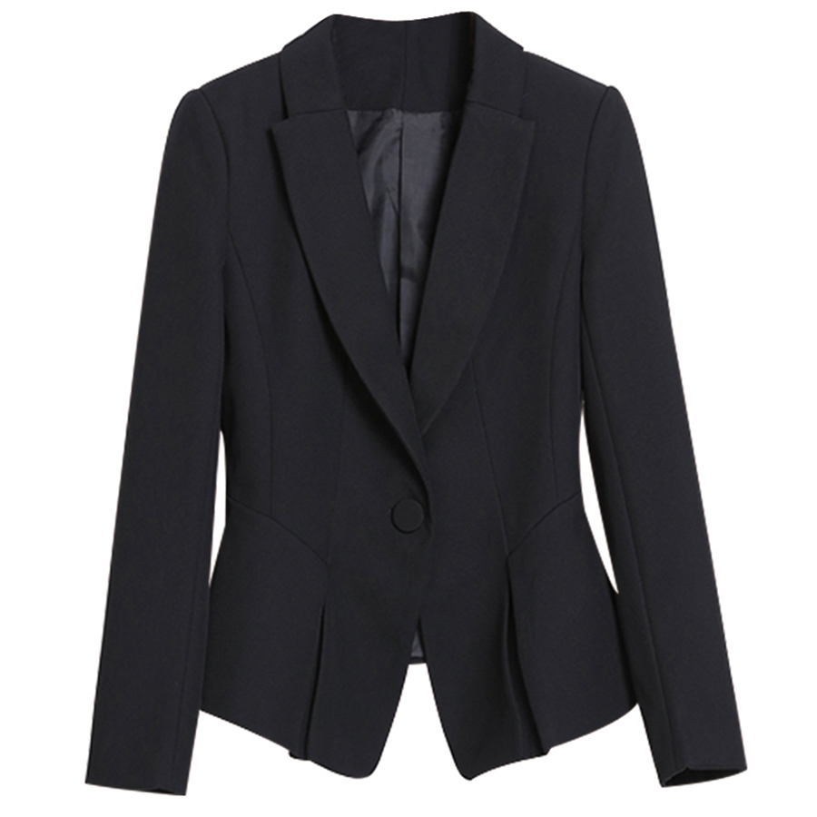Coat Long Sleeved Office Blazer Women Black Elegant Jacket Spring Woman Feminino Longo Workwear Blouson Femme Suit Women 60X019
