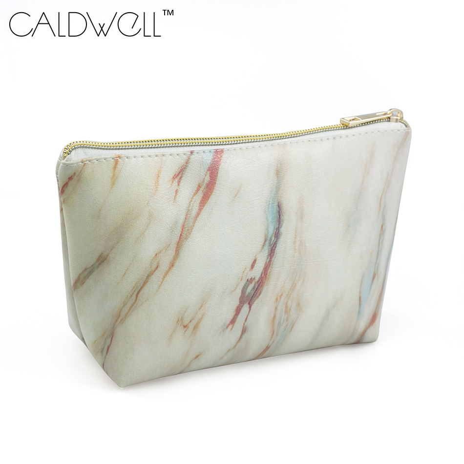 CALDWELL The new synthetic leather dumpling cosmetic bag is simple, light, waterproof, dirt-resistant and easy to clean.