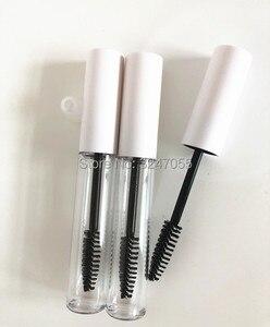 10ML 30/50/100 Uds. Botella de almacenamiento de crema de pestañas claras cosméticas, tubo de rímel de maquillaje con tapa negra/dorada/plateada/blanca