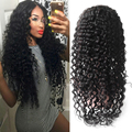 Onda profunda Full/Frente Lace Wigs Brasileiro Full Lace Perucas de Cabelo Humano para As Mulheres Negras e Molhado Ondulado Parte Dianteira Do Laço Perucas de Cabelo Humano 8A