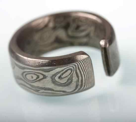 DIY knife Damascus steel pattern steel ring material 95*8*3mm