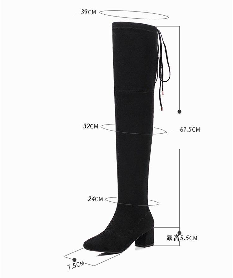Neue Knie Frauen 43 Heelber {zorssar} Plus 34 Mode Hohe Winter 2019 Lang Gre Flock High Stiefel SchwarzGrau Leder vNn0wm8O