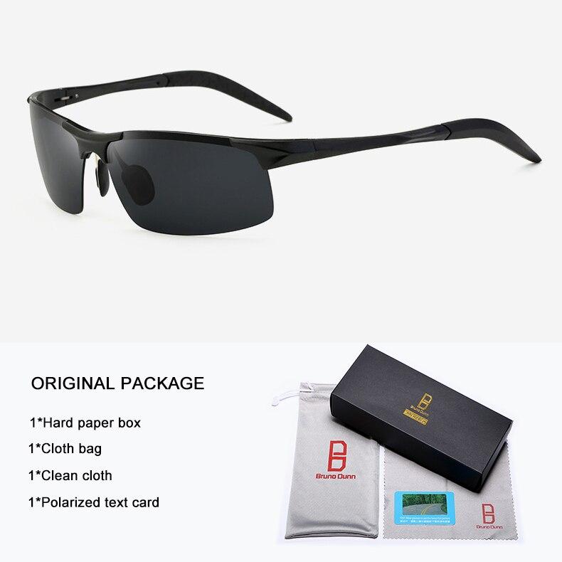 Bruno Dunn Driving polarized Men sunglasses 2020 sports High Quality UV400 Aluminum sun glasses for male oculos de sol masculino 11