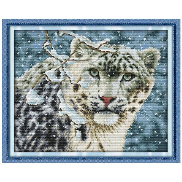 Купить вышивка крестом леопард