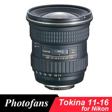 Tokina 11 16mm f/2.8 AT X 11 16 פרו DX II רחב angl עדשה עבור ניקון d3200 D3300 D3400 D5200 D5300 D5500 D5600 D7100 D7200 D500