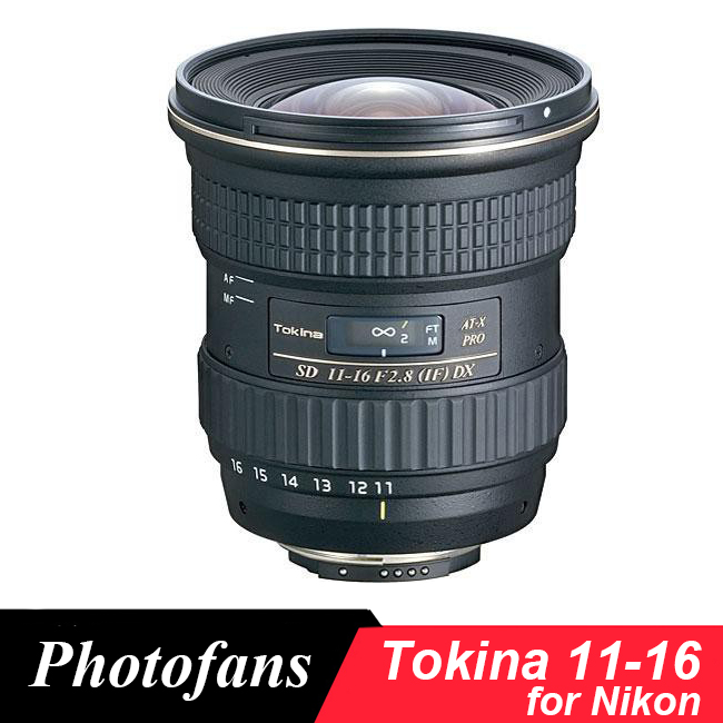 Tokina 11-16mm f/2.8 AT-X 11-16 Pro DX II Lens for <font><b>Nikon</b></font> D3200 D3300 D3400 D5200 D5300 D5500 D5600 D7100 D7200 <font><b>D90</b></font> D500 image