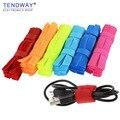 Cable winder 50pcs/10pcs Cable Organizer Management Colored Charger Cable Holder Cord Management Protetor Earphone Accessorie