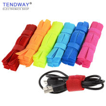 Cable winder 50pcs/10pcs Cable Organizer Management Colored Charger Cable Holder Cord Management Protetor Earphone Accessorie(China)