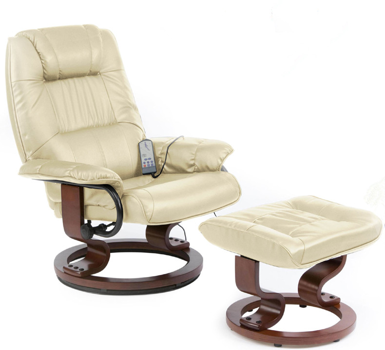 Japan Deluxe Leather Sofa Recliner And Ottoman With 8 Motor Massage Heat Electric Modern