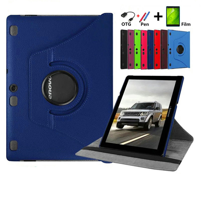 Pour Lenovo Tab 2 A10 70 10.1 Tablet cas 360 tournant pour Lenovo A10-70 A10-70L A10-70F Stand En Cuir De Protection Tablet couverture