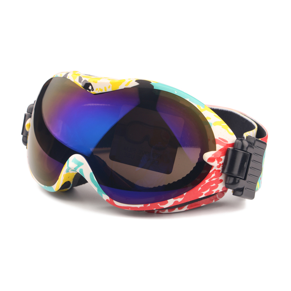 Snowboard Glasses Men & Women, UV400 Skiing Goggles, Double Layer Lens No Foggy Wear Over RX Glasses