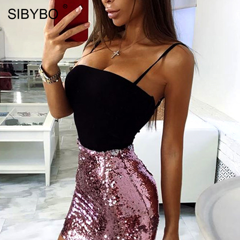 Sibybo Strapless Spaghetti Strap Sexy Women Bodysuit Rompers Backless Skinny Cotton Summer Romper Beach Casual Ladies Bodysuits