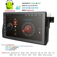 Android 9.0 4G Car GPS PLAYER For BMW E46 M3 MG ZT ROVER 75 GPS stereo audio navigation multimedia screen head unit USB OBD2 DAB