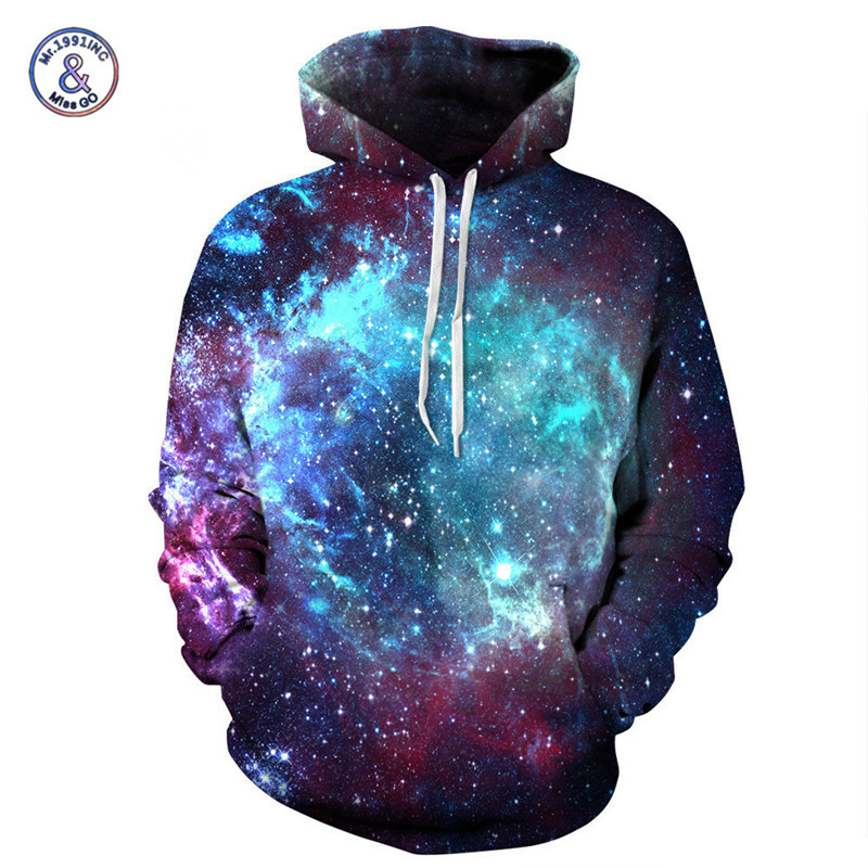 Hot Sale Plus Size 3D Sweatshirt With Hood Starry Sky Printed Hoodies Men/Women Hip Hop Cool Hoody Streetwear sudaderas