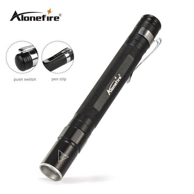 Alonefire mn23 Портативный мини Penlight CREE Q5 2000lm СВЕТОДИОДНЫЙ Фонарь карманный свет Водонепроницаемый мини факел лампы