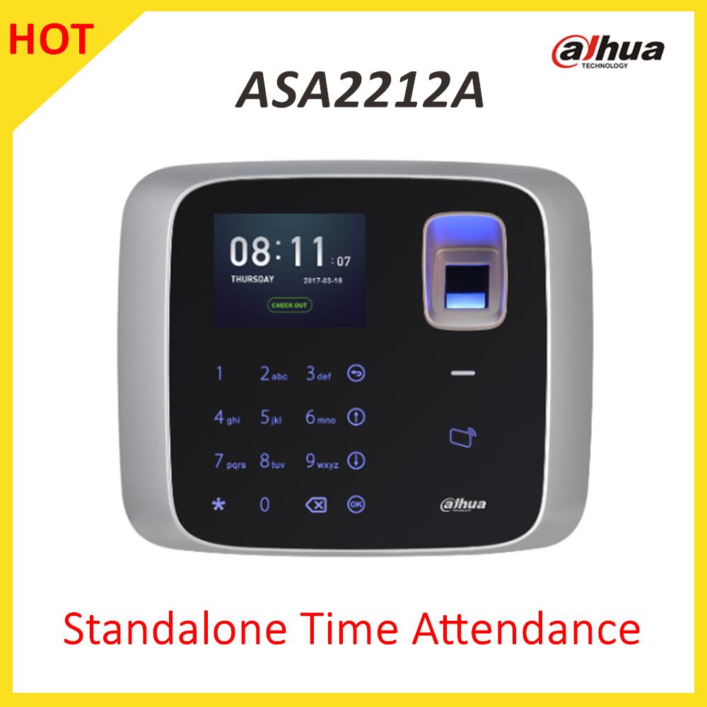 Dahua Standalone Time Attendance Support IC 13.56MHZ card Within SD card storage photos ASA2212A Video doorphone accessory блюдо asa selection a table