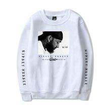 все цены на 2019 New sweatshirt Rep nipsey hussle Women/men CASUAL Spring Clothes Hot Sale Capless Long Sleeves Hoodies Print Plus Size онлайн