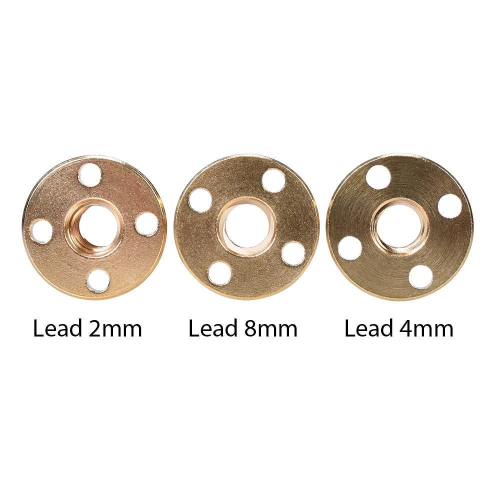 T8 Anti Backlash Spring Dimuat Nut Penghapusan Gap Nut untuk 8 Mm Acme Batang Ulir Sekrup Timbal DIY CNC 3D bagian Printer